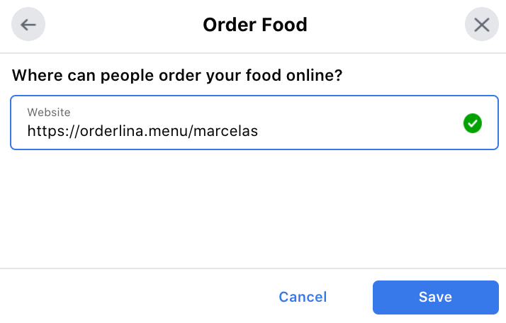 facebook start order button, Connecting a QR Menu to Social Media and Maximize Revenue